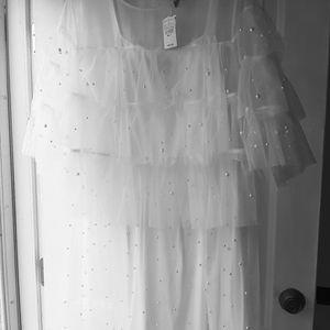 Mesh pearl dress